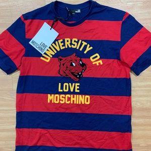 University of Love Moschino Stripe Red Shirt NTW